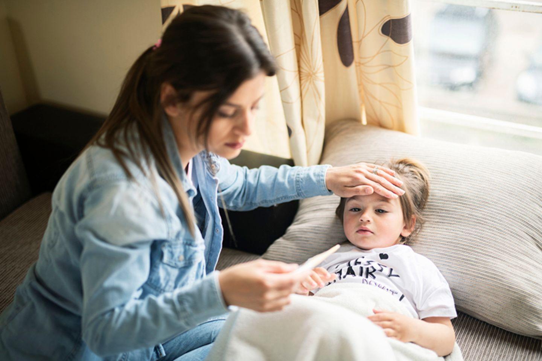 Blog Mama steht Kopf, Kranke Kinder