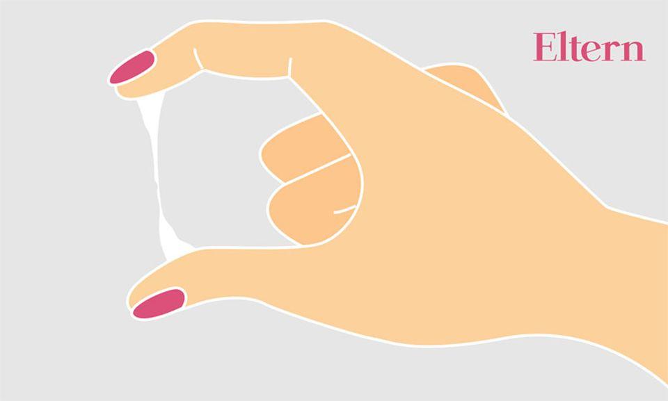 Zervixschleim spinnbarer es 6 Zervixschleim: So