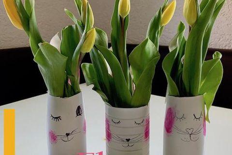 Mumslife: DIY Upcycling: Hasenvasen aus Plastikflaschen!