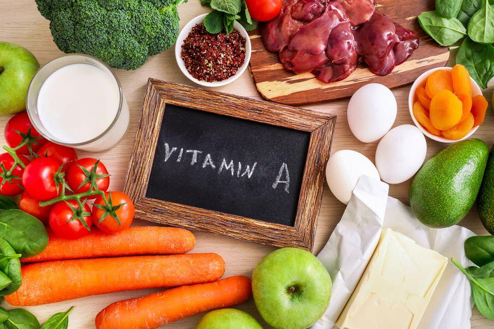 Lebensmitteln mit viel Vitamin A