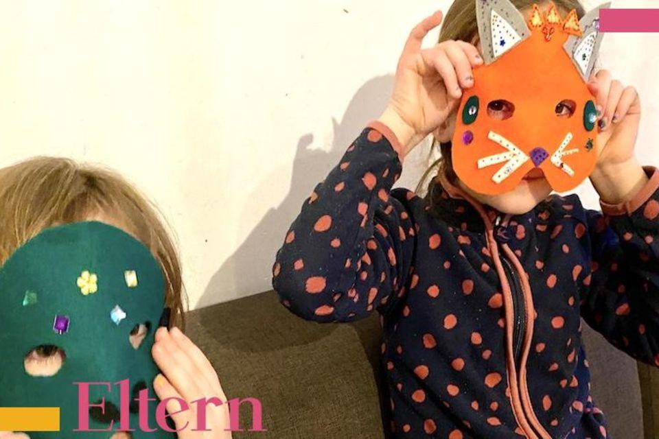 Lächeln und winken: DIY-Tipp: Fantasievolle (Filz-)Masken basteln