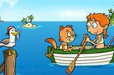 Die Zwuggels – Reise ans Meer   Gutmütige, sympathische kleine Wesen – das sind die Zwuggels, die die Kinder in 36 Kapiteln ein interaktives Abenteuer erleben lassen. In dieser Mischung aus EBook und Spiel gilt es, den sagenhaften Schatz der Piratenkatzen zu finden. Kapitel für Kapitel spielen sich die Kinder in abwechslungsreichen und lustigen Spielen und Aktionen weiter. Der gereimte Text wird in insgesamt acht Sprachen angeboten, allerdings nicht vorgelesen. Zum Entdecken der App braucht es also Kinder, die bereits fit im Lesen sind, oder einen lesekompetenten Begleiter. Eine interaktive Vorlese-App voller kurzweiliger Spiele.   iOS & Android, Ploosh, 2,99 Euro