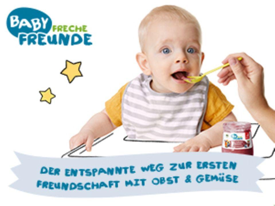Gewinnspiel: Baby Freche Freunde ist da! Gewinne 1 von 2 Beikost-Paketen.