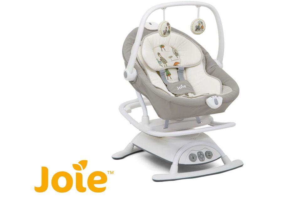 Gewinnspiel: Wohlfühlprogramm für entspannte Babys: HiPP Babysanft und Wippe Joie Sansa 2in1