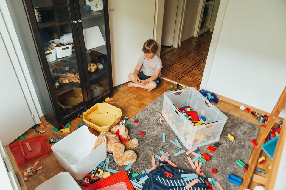 Unordentliches Kinderzimmer