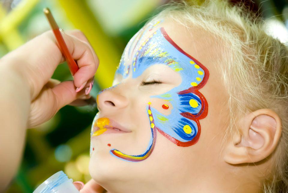 Schmetterling schminken: Akzente