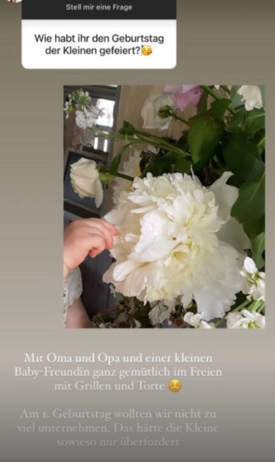 Barbara Meier verrät: Instagramstory mit Blumen