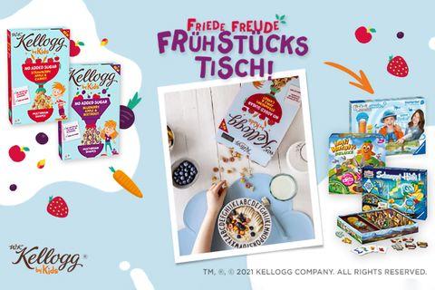 Gewinnspiel: Gewinne ein Frühstücks-Fun-Paket mit W.K. Kellogg® by Kids & tollen Spielen