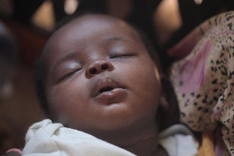 Baby in Afrika